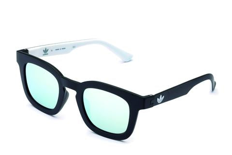 Adidas Originals - AOR022 Black + White Sunglasses / Mirror Lenses