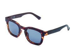 Adidas Originals - AOR022 Havana Brown Sunglasses / Shaded Blue Lenses