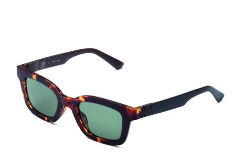 Adidas Originals - AOR023 Havana Brown Sunglasses / Full Shaded Grey Lenses