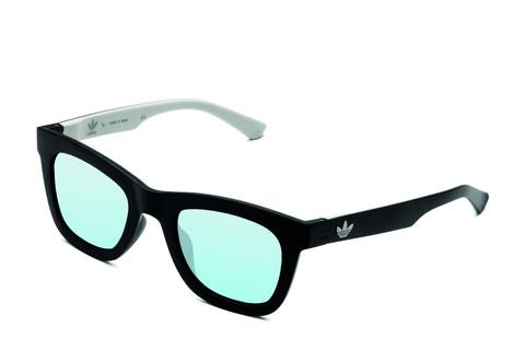 Adidas Originals - AOR024 Black + White Sunglasses / Mirror Lenses
