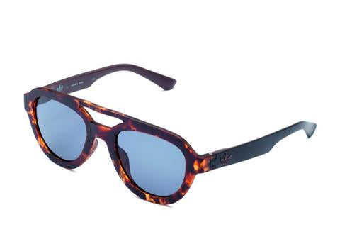 Adidas Originals - AOR025 Havana Brown Sunglasses / Shaded Blue Lenses