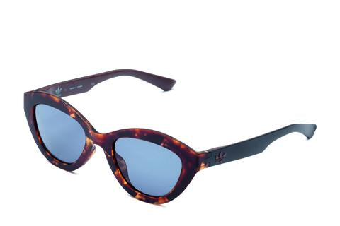 Adidas Originals - AOR026 Havana Brown Sunglasses / Shaded Blue Lenses