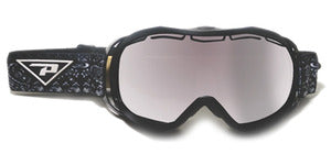 Peppers - Powder Hound Black Snow Goggles / Smoke Silver Mirror Lenses
