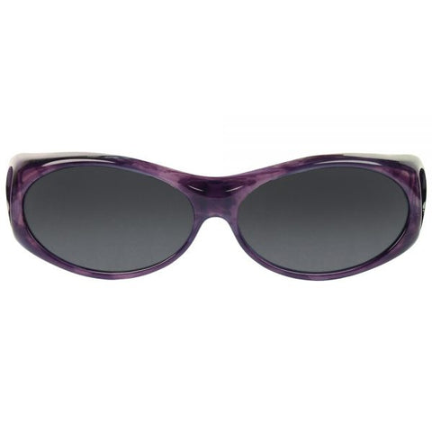 Jonathan Paul Fitovers - Aurora Purple Haze Fitover Sunglasses / Polarvue Gray Lenses