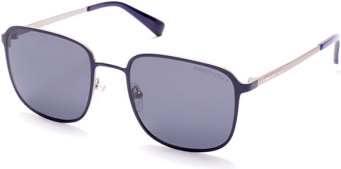 Kenneth Cole - KC7231 Matte Blue Sunglasses / Smoke Polarized Lenses