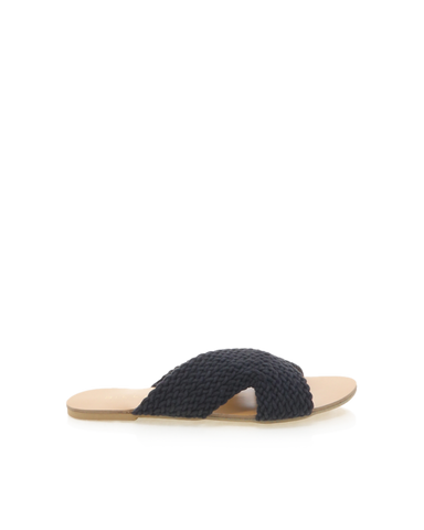 BiLLiNi - Women's Astor Black Woven Slides