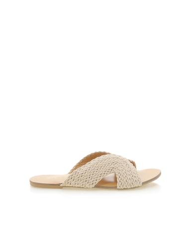 BiLLiNi - Women's Astor Natural Woven Slides