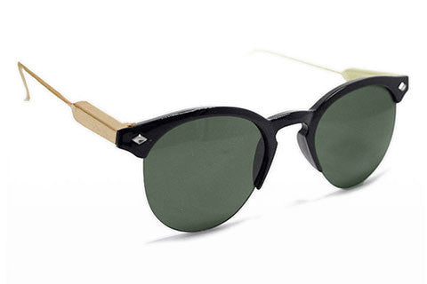 Spitfire - Astro Black & Gold Sunglasses, Black Lenses