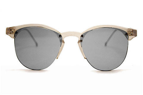 Spitfire - Astro Clear Sunglasses, Silver Mirror Lenses