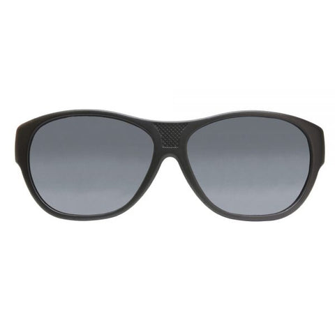 Jonathan Paul Fitovers - Allure Satin Black Fitover Sunglasses / Polarvue Gray Lenses