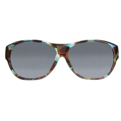 Jonathan Paul Fitovers - Allure Turquoise Demi Fitover Sunglasses / Polarvue Gray Lenses