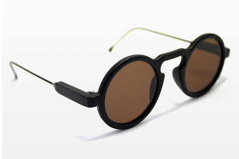 Spitfire - Aurora Matte Black Sunglasses, Brown Lenses