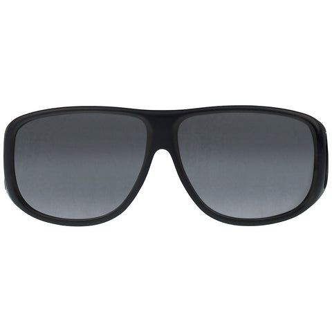 Jonathan Paul Fitovers - Aviator Matte Black Fitover Sunglasses / Polarvue Gray Lenses