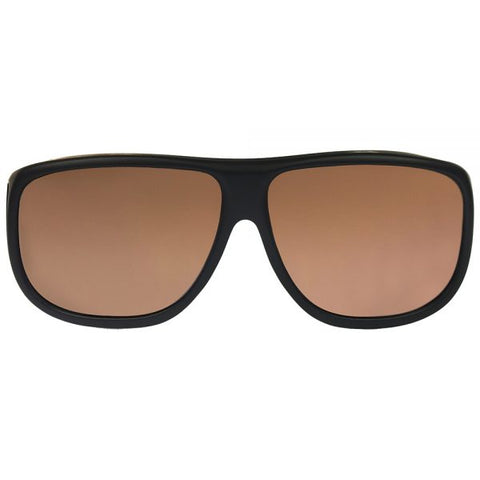 Jonathan Paul Fitovers - Aviator Matte Black Fitover Sunglasses / Polarvue Amber Lenses