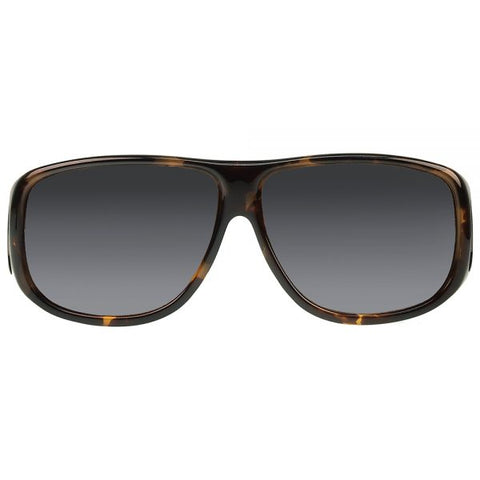 Jonathan Paul Fitovers - Aviator Tortoise Shell Fitover Sunglasses / Polarvue Gray Lenses