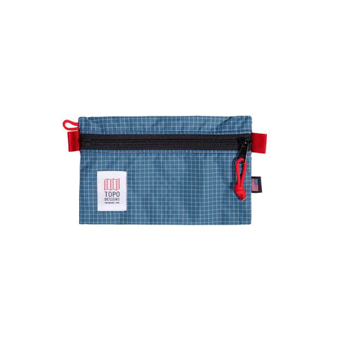 Topo Designs - Blue White Ripstop Small Unisex Accessory Bag