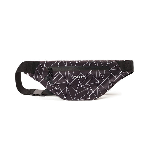 Vooray - Active Geometric Black Fanny Pack