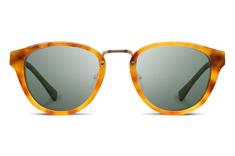 Shwood - Ainsworth Acetate Amber / G15 Polarized Sunglasses