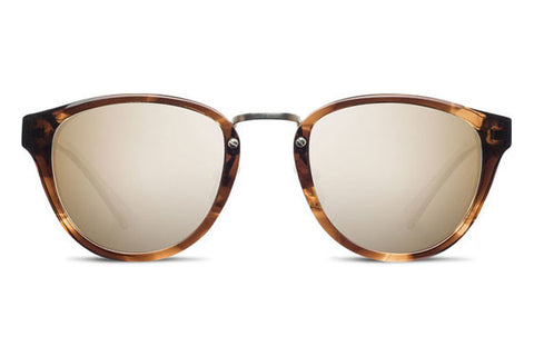 Shwood - Ainsworth Acetate Bourbon / Gold Mirror Sunglasses