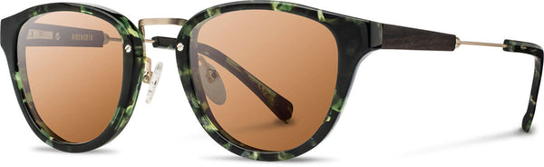 Shwood - Ainsworth Acetate Dark Forest / Brown Polarized Sunglasses