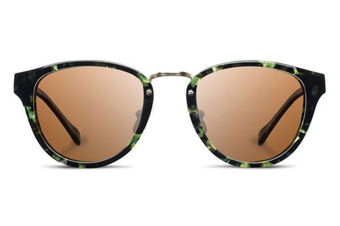 Shwood - Ainsworth Acetate Dark Forest / Brown Sunglasses