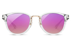 Shwood - Ainsworth Acetate Crystal / Rose Flash Polarized Sunglasses
