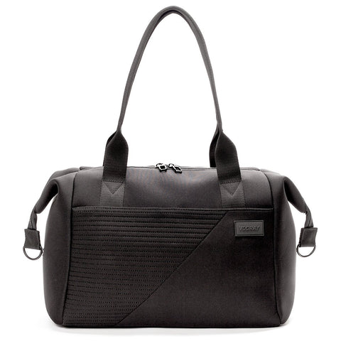 Vooray - Alana Neoprene Black Moto Duffel Bag
