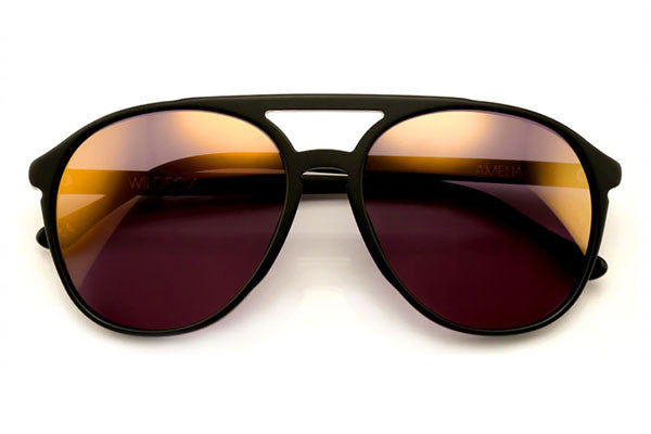 Wildfox - Amelia Matte Black Sunglasses