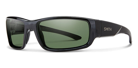 Smith - Survey Black Sunglasses / Carbonic Polarized Gray Green Lenses