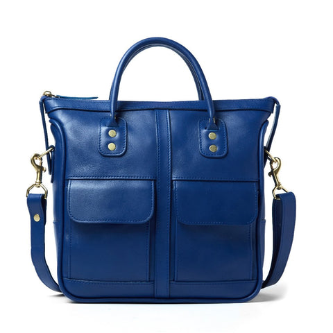 J.W. Hulme - Excursion Blue Leather Handbag