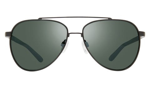 Revo - Arthur 58mm Black Sunglasses / Smoky Green Lenses