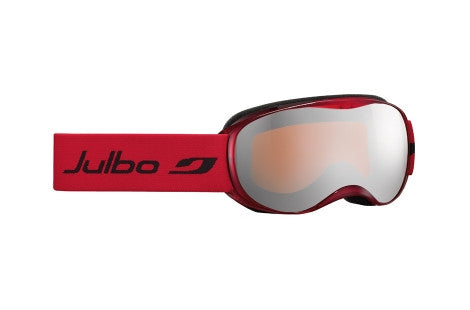 Julbo - ATMO Translucent Red Goggles, Mirror Spectron Cat. 3 Double Lenses