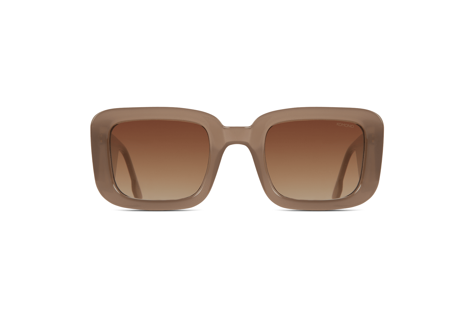 Komono - Avery Sahara Sunglasses / Gradient Brown Lenses