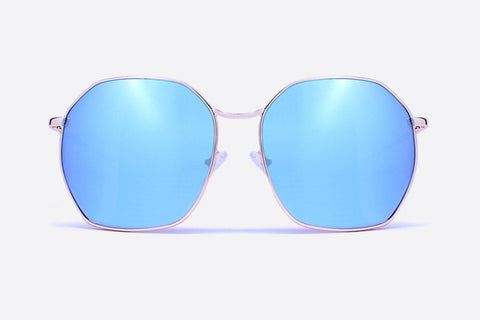 Quay Bae Gold / Blue Sunglasses