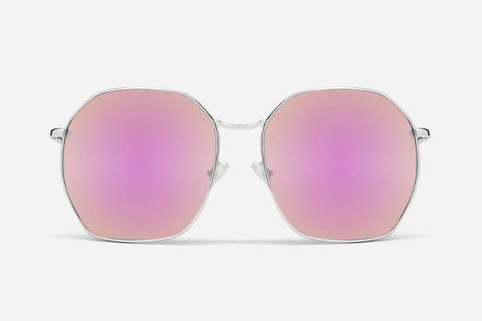Quay Bae Silver / Rose Sunglasses