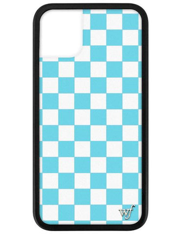 Wildflower - Blue Checkers iPhone 11 Phone Case