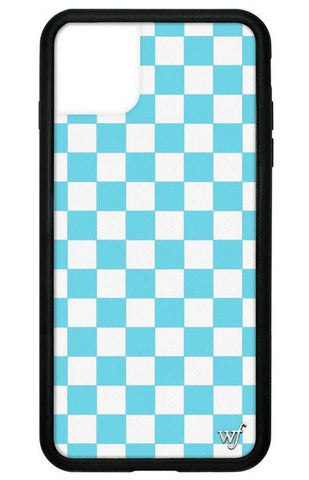 Wildflower - Blue Checkers iPhone 11 Pro Max Phone Case