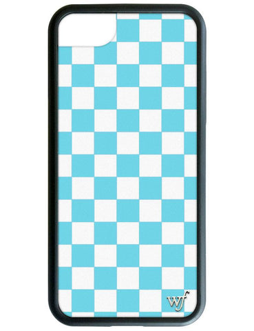 Wildflower - Blue Checkers iPhone 6/7/8 Case