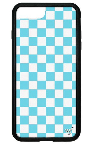 Wildflower - Blue Checkers iPhone 6/7/8 Plus Phone Case
