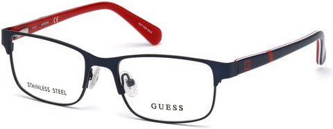 Guess - GU9180 Matte Blue Eyeglasses / Demo Lenses