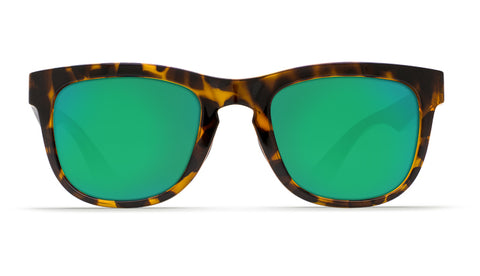 Costa - Copra  Retro Tortoise + Black temples Sunglasses / Green Polarized Plastic Lenses