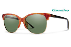 Smith - Rebel Matte Honey Tortoise / Black Sunglasses, ChromaPop Polarized Gray Green Lenses