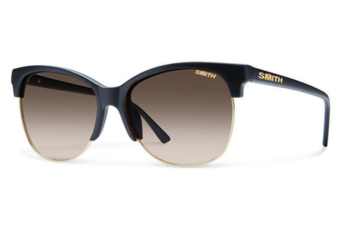 Smith - Rebel Matte Black Sunglasses, Polarized Brown Gradient Lenses