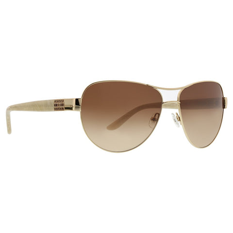 Badgley Mischka - Philise 61mm Gold Sunglasses / Brown Gradient Lenses