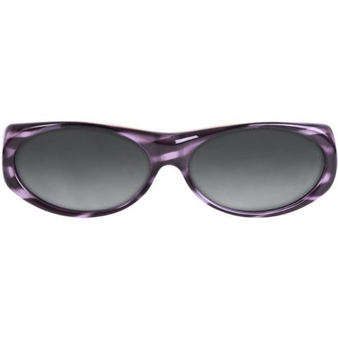 Jonathan Paul Fitovers - Binya Purple Zebra Fitover Sunglasses / Polarvue Gray Lenses
