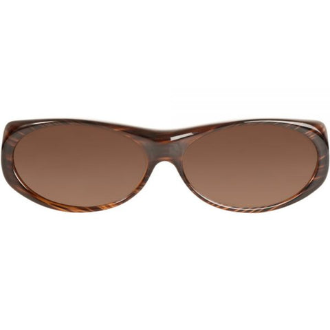 Jonathan Paul Fitovers - Binya Brown Feather Fitover Sunglasses / Polarvue Amber Lenses