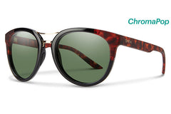 Smith - Bridgetown Black Havana Block Sunglasses, ChromaPop Polarized Gray Green Lenses
