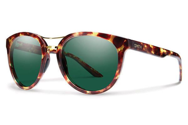 Smith - Bridgetown Yellow Tortoise Sunglasses, Green Lenses