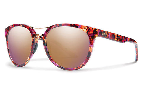 Smith - Bridgetown Flecked Mulberry Tortoise Sunglasses, Rose Gold Mirror Lenses