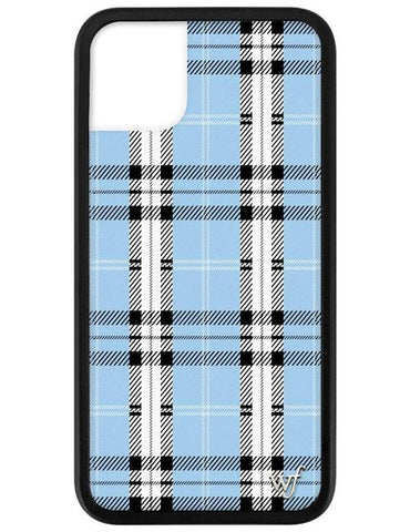 Wildflower - Blue Plaid iPhone 11 Phone Case